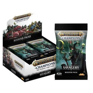 Warhammer Age of Sigmar Champions CCG: Savagery Booster Display ^ Mar 2019