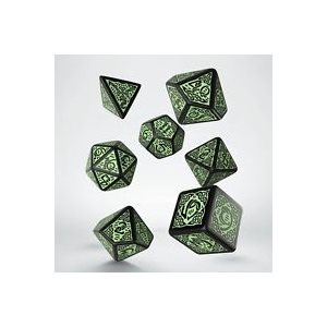 Celtic Dice 3D Revised Black & Green (7)