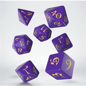 Classic Dice Purple & Yellow 7pc
