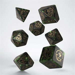 Dragons Dice Bottle Green & Gold (7)