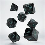 Galactic Black & Blue Dice 7Pc