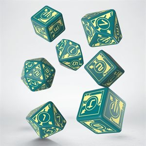 Polaris RPG Dice Turquoise & Light Yellow (7)