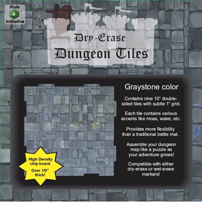 Dungeon Tiles - Graystone - Combo pack 5 ten inch & 16 5 inch squares