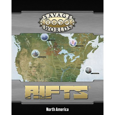 Savage Worlds Rifts Map North America And Castle Refuge