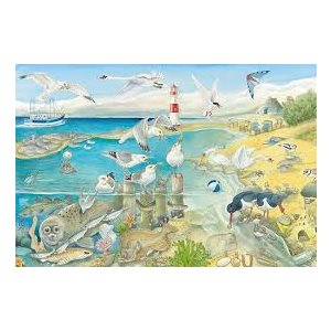 Puzzle: 60 Animals At The Seaside