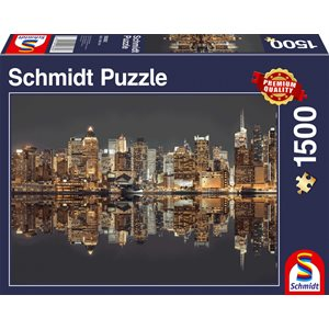 Puzzle: 1500 New York Skyline At Night