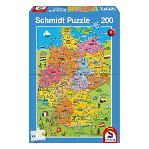 Puzzle: 200 Cartoon map of Germany