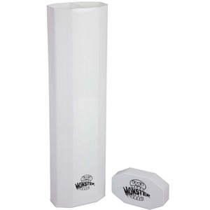 Monster Dual Playmat Tube Opaque White With White Cap
