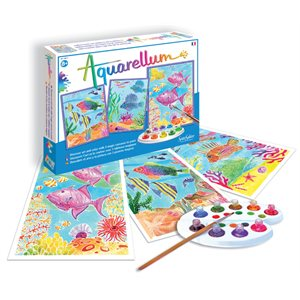 Aquarellum: Magic Canvas Large Coral Reefs (Multi)