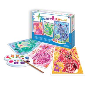 Aquarellum: Magic Canvas Large Cats (Multi)