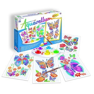 Aquarellum: Magic Canvas Junior Butterflies & Flowers (Multi)
