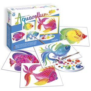 Aquarellum: Magic Canvas Junior Fish (Multi)