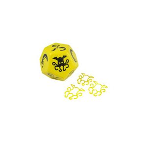 Cthulhu Dice Giant Yellow Black