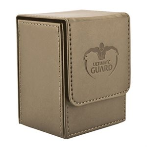 Deck Box: Flip Deck Case Leather 80 Sand
