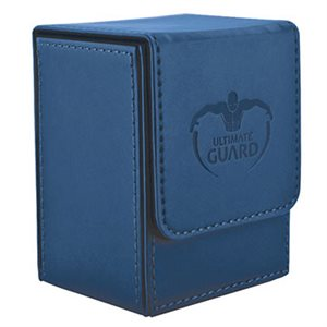 Deck Box: Flip Deck Case Leather 80 Dark Blue