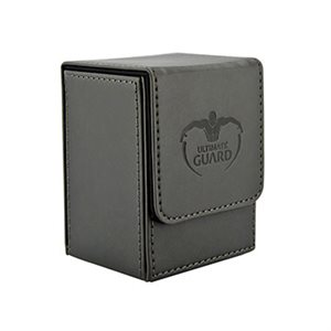 Deck Box: Flip Deck Case Leather 80 Black