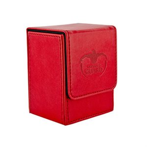 Deck Box: Flip Deck Case Leather 80 Red