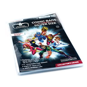Comic Bags Resealable Silver (100)