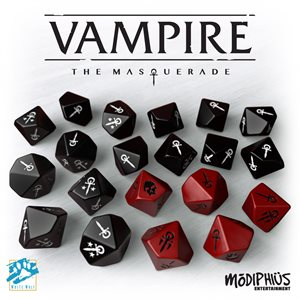 Vampire: The Masquerade 5th Ed: Dice Set ^ Aug