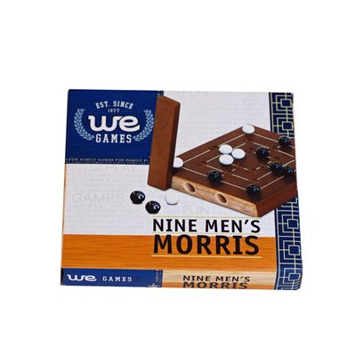 Wooden Nine Men's Morris 5""