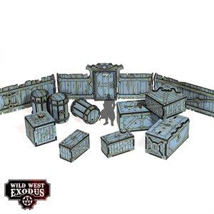 Wild West Exodus: Terrian: Red Oak Crates, Fences and Barrels
