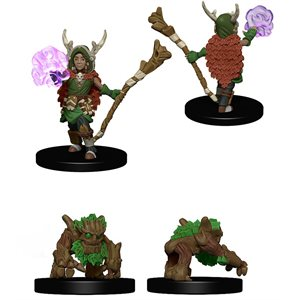 Wardlings RPG figure (Painted): Boy Druid & Tree Creature