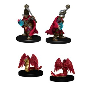 Wardlings RPG figure (Painted): Boy Cleric & Winged Snake