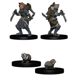Wardlings RPG figure (Painted): Girl Rogue & Badger