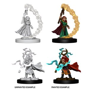 Pathfinder Deep Cuts Unpainted Miniatures: Gnome Female Sorcerer ^ Aug