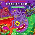 Dungeons & Dragons: Adventures Outlined Coloring Book Todd James (BOOK)