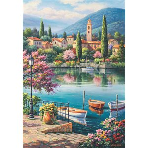 Puzzle: 500 Village Lake Afternoon