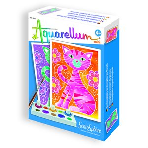 Aquarellum: Magic Canvas Mini Cats (Multi)