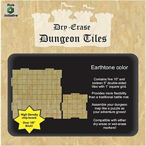 Dungeon Tiles - Earthtone - Combo pack of 5 ten inch & 16 five inch squares