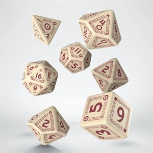 RuneQuest Dice Beige & Burgundy (7)