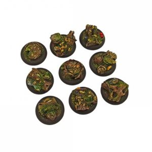 Bases: Forest, Round Lipped 30mm (5)