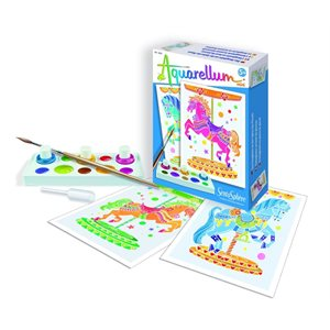 Aquarellum: Magic Canvas Mini Horses (Multi)