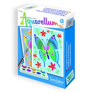 Aquarellum: Magic Canvas Mini Butterflies (Multi)