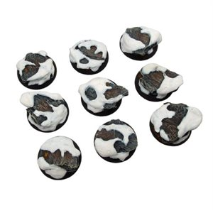Bases: Winter Shale, Round Lipped 30mm (5)